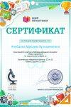 Сертификат -Ачабаева М.