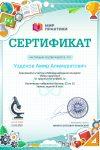 Сертификат Узденов А.